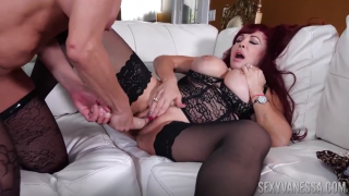 Two busty milf and a dildo